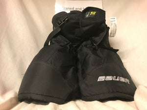 Used Bauer Supreme 1S Size Jr S Black Ice Hockey Pants