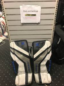 "Used Itech Prodigy 4.8 Size 30"" Black Ice Hockey Goalie Leg Pads"