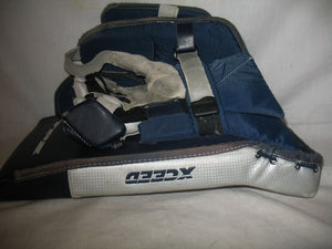 Used TPS Exceed Size Jr Reg (Rt Hand) Navy-Silver Ice Hockey Goalie Blocker
