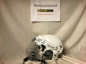 Used Bauer 7500 with Shield Size S White Hockey Helmet