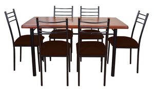 Comedor Ranco 6 Sillas Chocolate