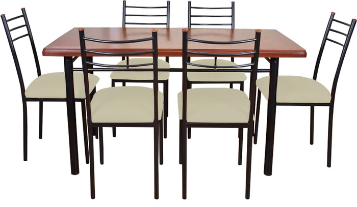 Comedor Ranco 6 Sillas Crudo