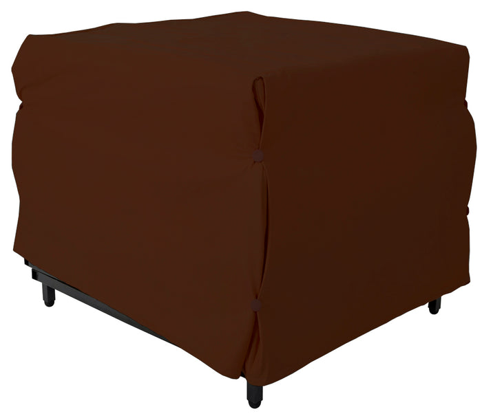 Pouf Cama  Tela Chocolate