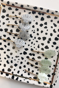 Sea Shell Bobby Pins - Set of two