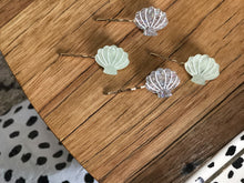 Load image into Gallery viewer, Sea Shell Bobby Pins - Set of two