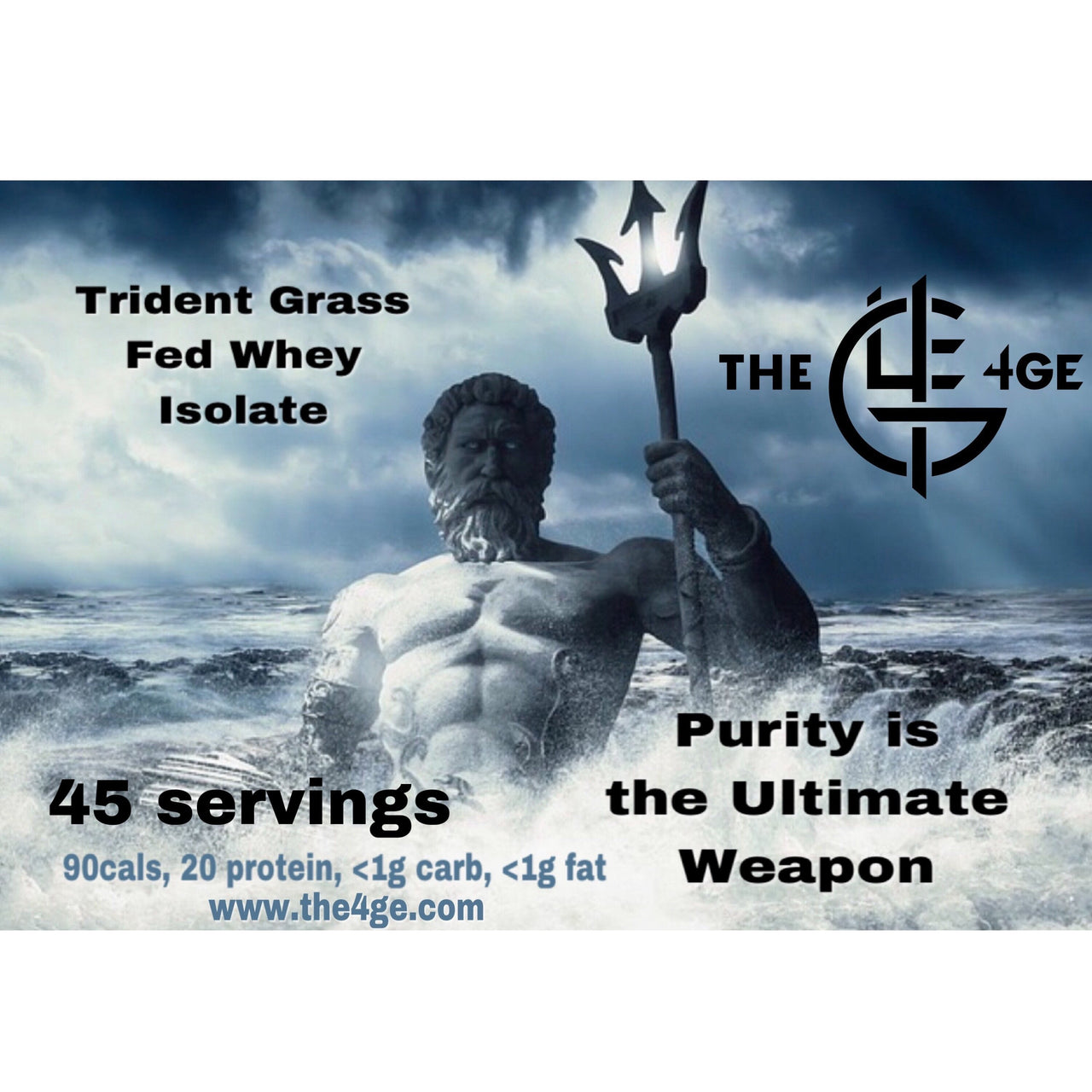 Trident Grass-Fed Protein Powder © - The 4ge