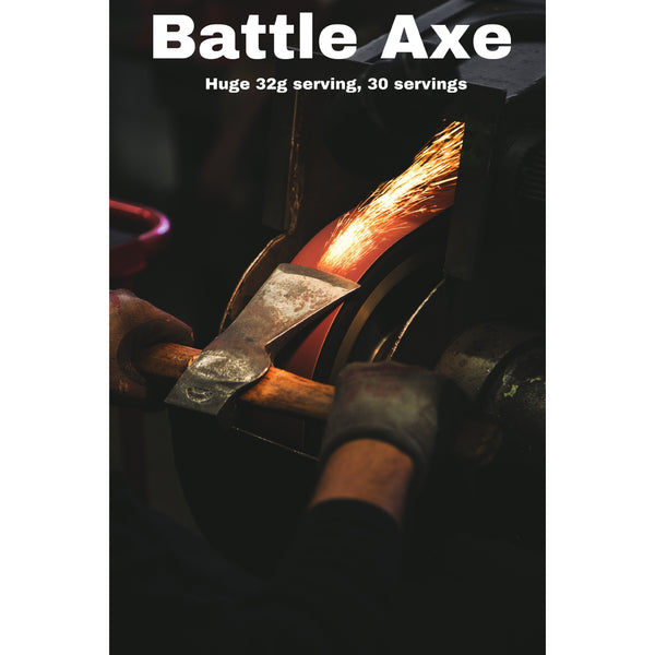 Battle Axe ©: 4 in 1—Pre-Workout, Intra-Workout, NO2 & Pump Amplifier
