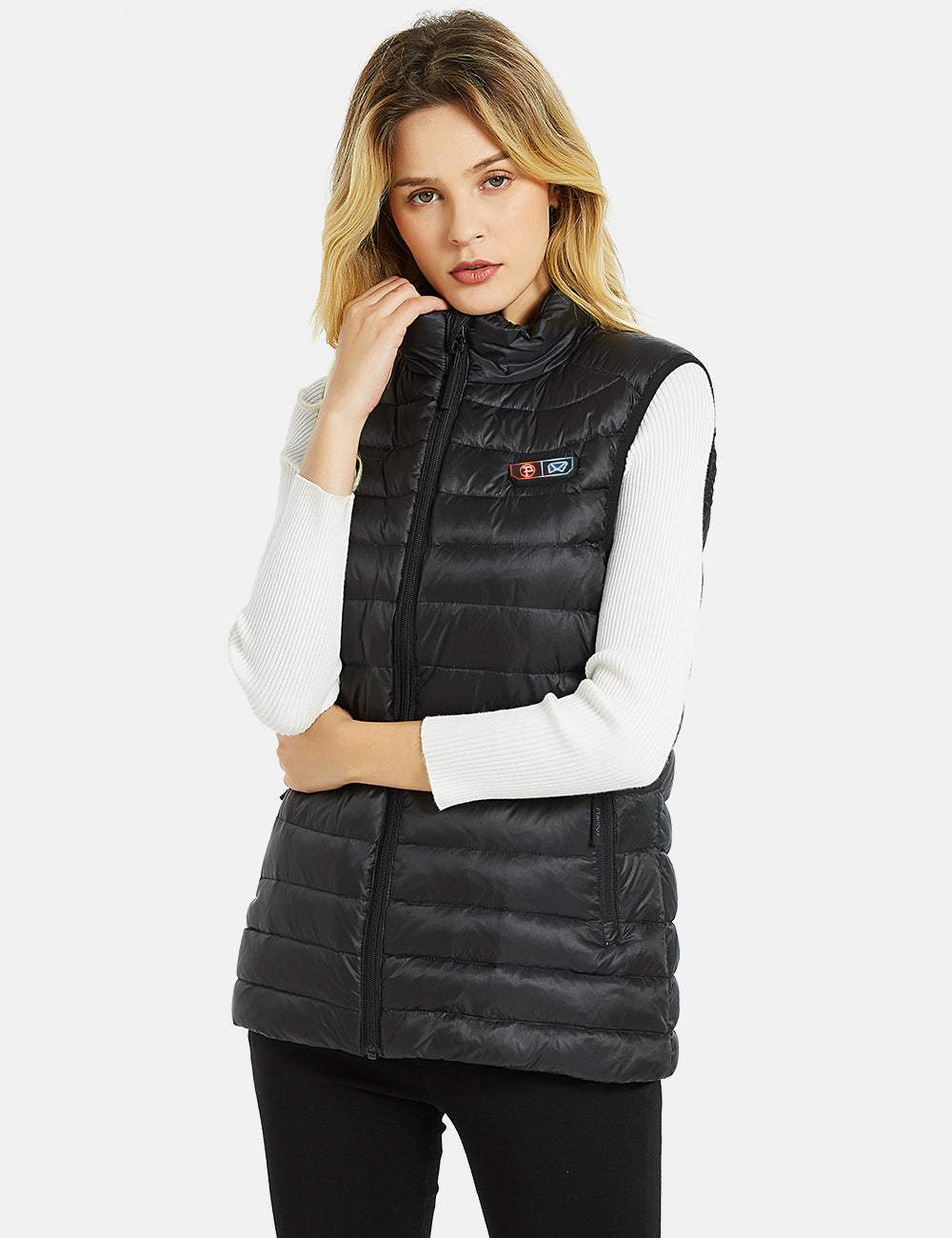 Womens 4 Zone Down Heated Vest with Battery Kit