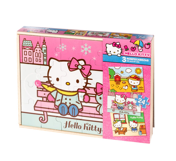 3 Rompecabezas Hello Kitty - Xoppal.com