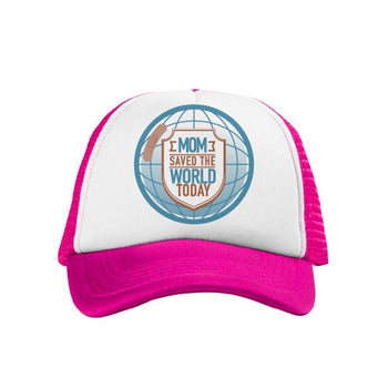 "Gorra con Frase Para Mamá ""Mom Saved the World Today"" - Xoppal.com"