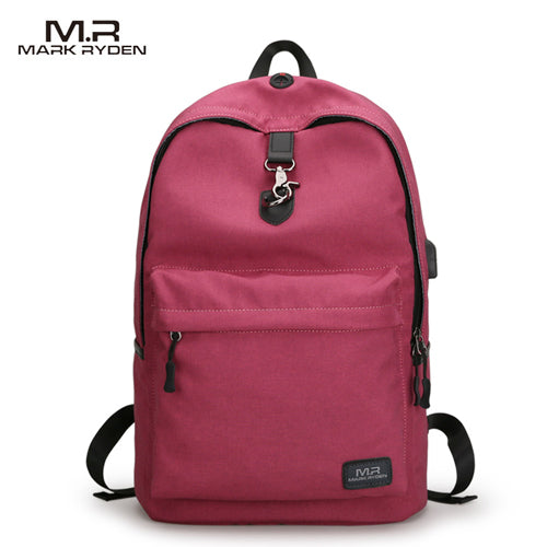 Mochila Escolar Mark Ryden Antirrobo Usb Laptop - Xoppal.com