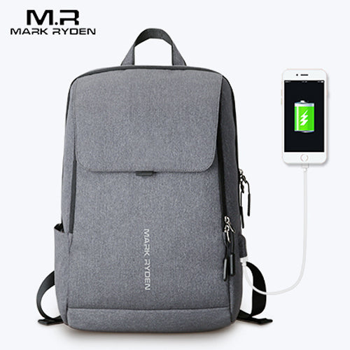 Mochila Escolar Mark Ryden Antirrobo Usb Laptop Impermeable - Xoppal.com