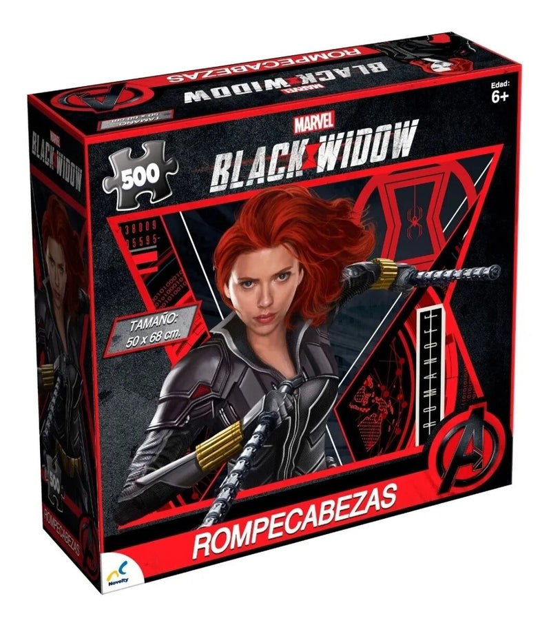 Rompecabezas Coleccionable Marvel Black Widow-500 Pzas - Xoppal.com