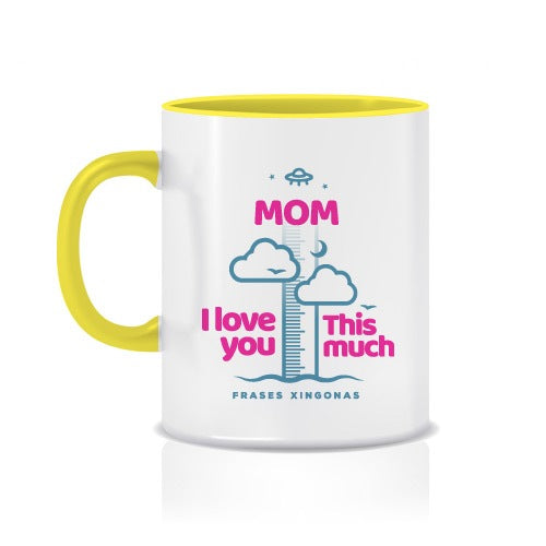 "Taza con Colores y Frase ""This Much"" - Xoppal.com"