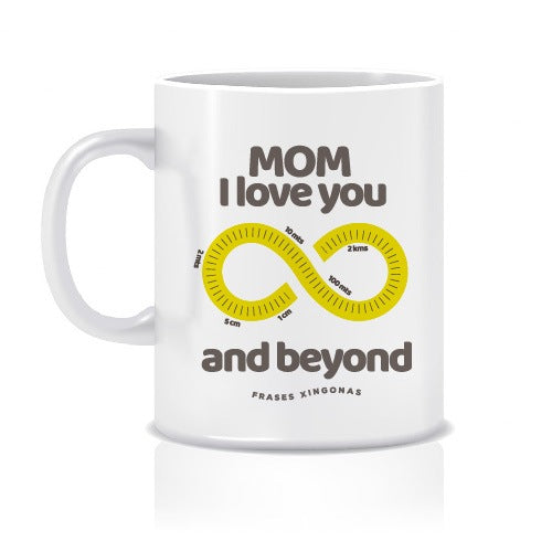 "Taza con Colores y Frase ""And Beyond"" - Xoppal.com"