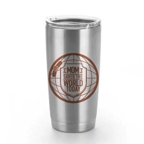 "Vaso Térmico con Frase ""Mom Saved the World"" - Xoppal.com"