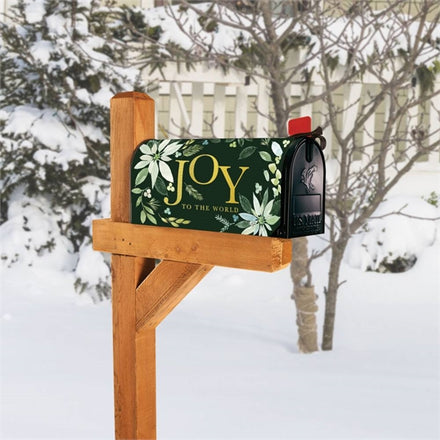Poinsettia Joy Mailbox Cover