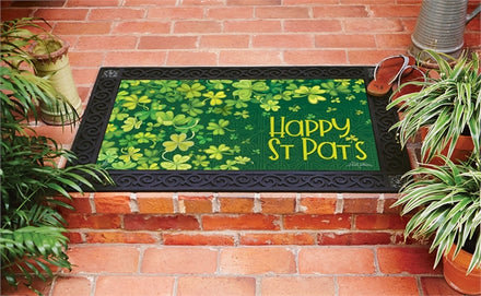 Shamrock Shower Door Mat