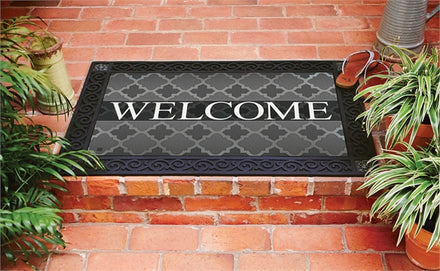 Quatrefoil Welcome Door Mat