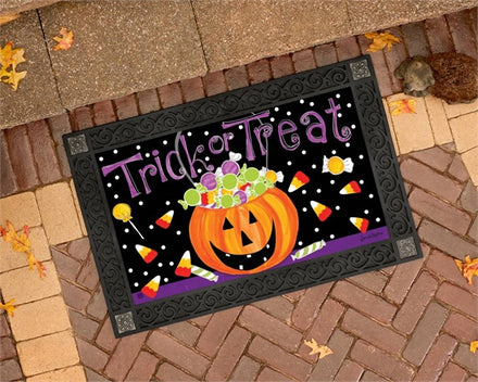 Halloween Candy Door Mat