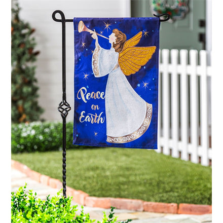 Lace Angel Linen Garden Flag