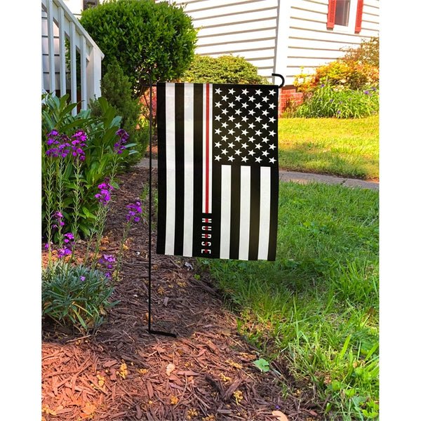 Nurse Thin Line Garden Flag