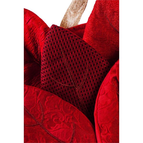 Poinsettia Burlap Door Hanger