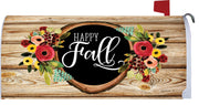Fall Floral Wreath Mailbox Cover