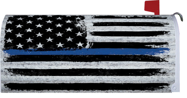 Thin Blue Line Mailbox Cover