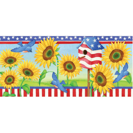 Patriotic Sunflowers Windsock