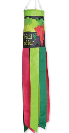 "Wine A Bit 28"" Windsock"