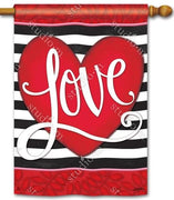 Heart with Stripe House Flag