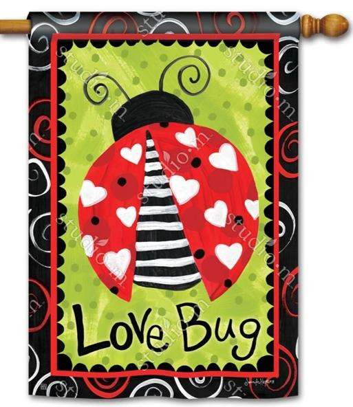 Love Bug House Flag