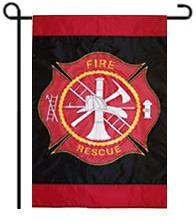 Fire & Rescue Garden Flag