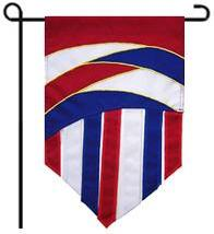 Patriotic Curves Garden Flag