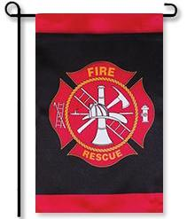 Fire & Rescue Emblem Garden Flag