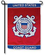 Coast Guard Emblem Garden Flag