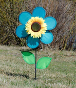 "12"" Teal Sunflower Spinner"
