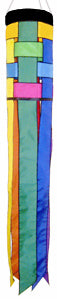 Rainbow Weave Windsock