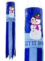"Let It Snow 40"" Windsock"