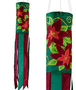 "Poinsettia 40"" Windsock"