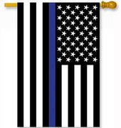 Thin Blue Line Applique House Flag