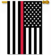 Thin Red Line Applique House Flag