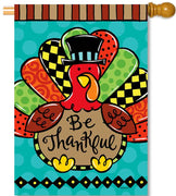 Whimsy Turkey House Flag