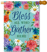 Bless & Gather House Flag