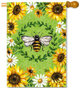 Bumblebees & Sunflowers House Flag