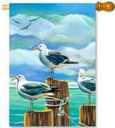 Seagull Pilings House Flag