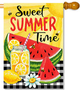 Sweet Summertime House Flag