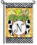 Patterned Pumpkin Monogram