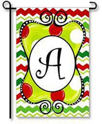 "Christmas Season Monogram ""A"" Garden Flag"